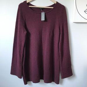 Ann Taylor Petite Burgundy Sweater Size LP
